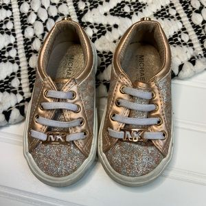 MICHEAL KORS Rose Gold Glitter shoes